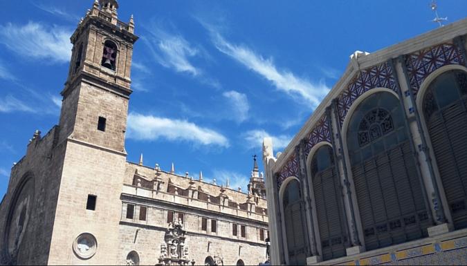 Mercado Central de Valencia parte trasera