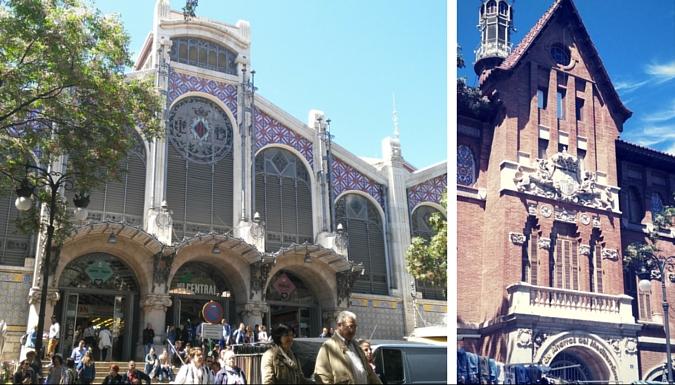 Fachada principal Mercado Central Valencia y Llotgeta