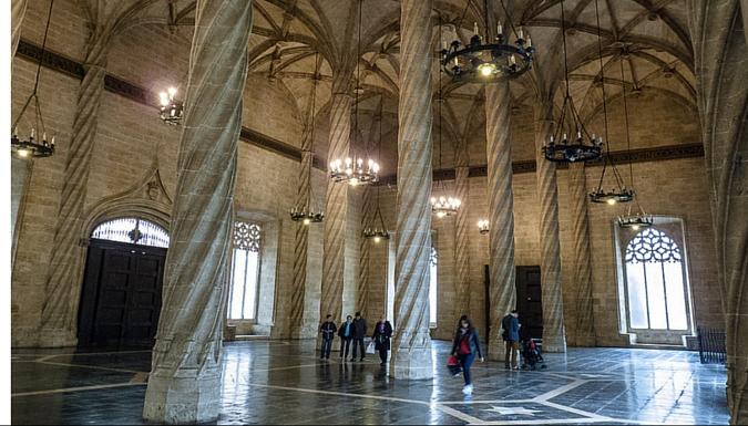 La Sala de Contratación de la Lonja de los Mercaderes de Valencia